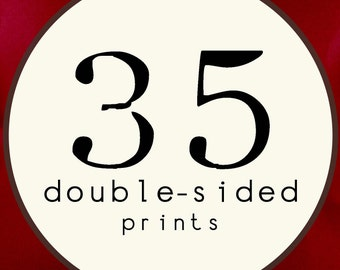 35 PRINTS - DOUBLE SIDED Printed Invitations Cards - 91891599