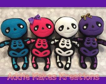 Halloween Skeleton Plush - Boy Skeleton - Girl Sketeton - Skeleton Doll - Halloween Decor - Skeleton Toy - Soft Toy - Stuffed Skeleton