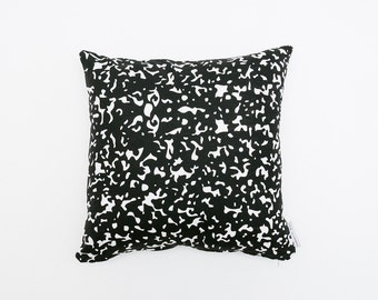 30% OFF - Static Pillow - Black & White - 16x16