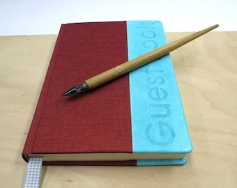 Guest Book, writing book, blank book, leather, paper goods, hand made, lined paper, wedding guest book, cabin guest book