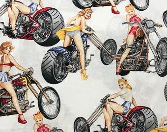 Girl on Bikes - Custom Made Scrub Tops Nursing Uniforms