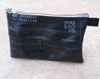 Bike Tube Zipper Pouch - Recycled Pencil Case - Bike Tool Bag - Small Tech Bag