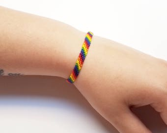 LGBT Bracelet Jewelry - LGBTQ Anklet - Friendship Bracelet - LGBT Ally Equality - Gay Pride Bracelet - Rainbow Jewelry -