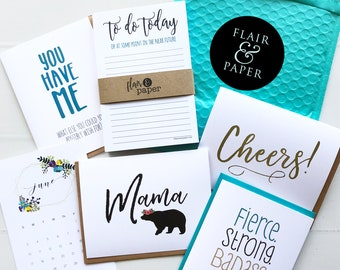 Monthly Mini Subscription - Greeting Cards - stationery items - Stationery Box Subscription - Subscription Gift - Stationery Gift - Monthly