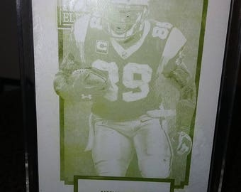RARE--Steve Smith 2013 Elite Yellow Printing Plate In a Standup Display Case--Only 1 Made!!