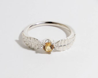 Golden Snitch Sterling Silver Ring Engagement