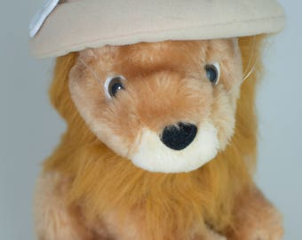Vintage Russ Berrie Lion Safari plush stuffed animal with tag