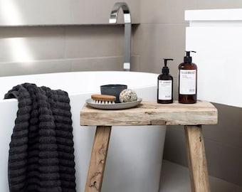 Scandinavian style wooden stool