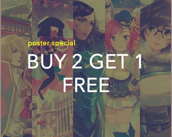 Poster Special Buy 2 Get 1 Free