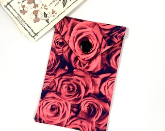 Red Rose Tarot Deck Bag - Aphrodite Beauty Tarot Card Case Roses Tarot Pouch Goddess of Love Tarot Storage
