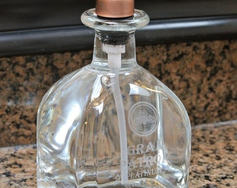Gran Patron Platinum Pump Soap Dispenser / Tequila Bottle / Husband Gift / Elegant in your bathroom or kitchen / Dish Soap Hand Soap