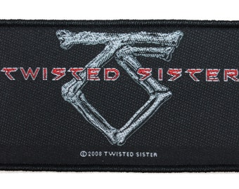 "Bones ""Twisted Sister"" Band Logo Hard Rock Metal Apparel Sew On Applique Patch"