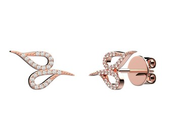 Double drops earrings - rose gold