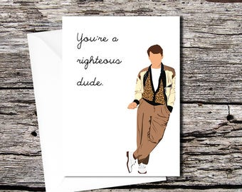 Ferris Bueller high quality greetings card (A5 folds to A6)