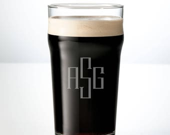 Monogram Beer Mug | Personalized Beer Mug | Custom Beer Glasses | Engraved Pint Glass | Groomsmen Gifts, Fathers Day Gift, Wedding Gifts