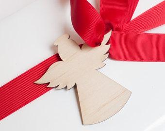 5 x angel christmas gift tag plywood laser cut