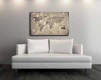 Pixel perfect by pixelperfect12 on etsy vintage world map canvas print wall decor world map canvas print world map art decor large wall art gift idea pxwm08 c gumiabroncs Image collections