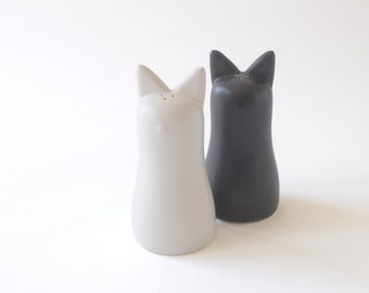 Shio Kosho Salt and Pepper Shakers - White & Slate