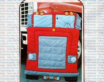 Boys Quilt Pattern Truck Quilt Pattern Truck Coverlet Down On The Farm Originals 109 18 Wheeler Coverlet UNCUT Boys Room Decor Truck Blanket