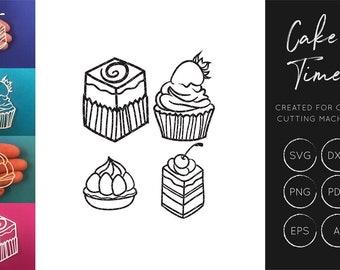 Cake SVG cut file