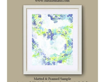 """WHIRLING PETALS  Art Print 8"""" x 10"""", Abstract Art by Sue Allemand, Meditation Paintings Inspirational Joyful"""