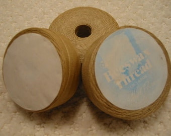 vintage 'Hazel Pearson' beeswax thread    lot of 3 spools  (135 yards each) . . . from the 1970's . . excellent new condition