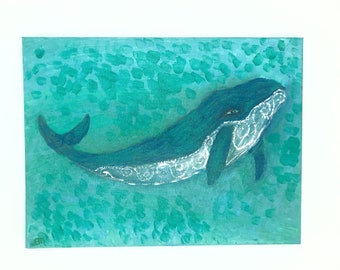 Guardian Humpback Whale / Humpback Whale Painting