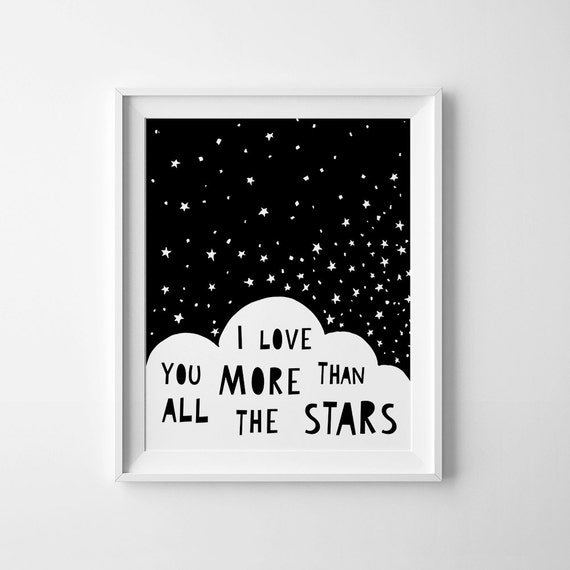 Nursery Ideas And Décor To Inspire You: Baby Wall Art Printable Nursery Decor I Love You More Than