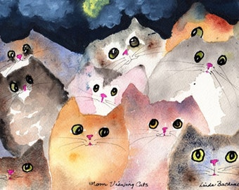Moon Viewing Cats