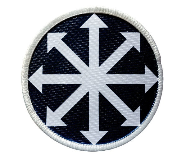 Patch Chaos Symbol Heat Seal Iron On Patch For Jackets