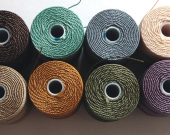 Crochet Beading Thread - Muted Collection