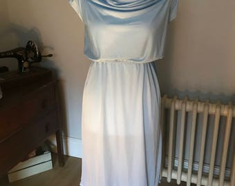 Handmade pale blue summer dress