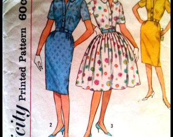 """Simplicity 4425  Misses' One Piece Dress With Two Skirts  Bust 32"""""""