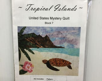 Cantik Batiks Tropical Islands United States Mystery Quilt Block 7