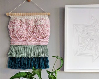 Woven wall hanging / Wall textile weaving / Woven tapestry ∆ Tulip