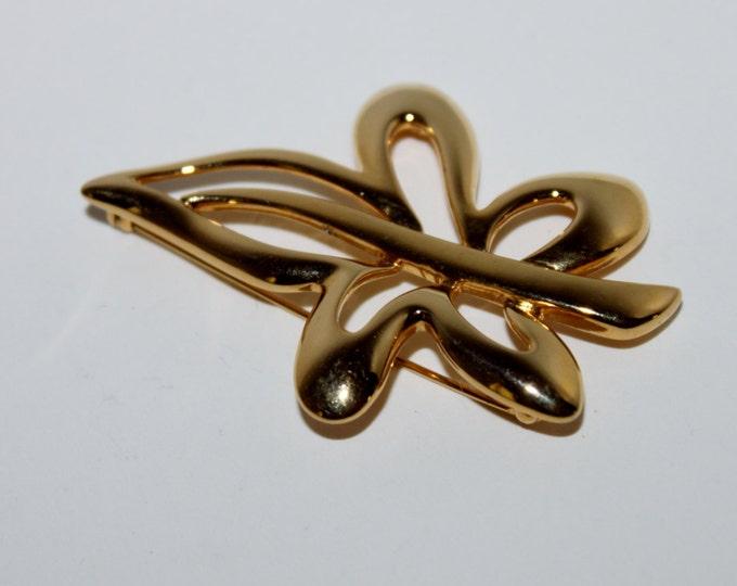 Vintage Napier Gold-Tone Brooch