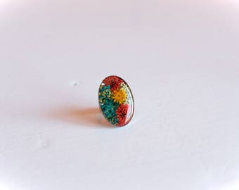 Ring stainless steel flowers