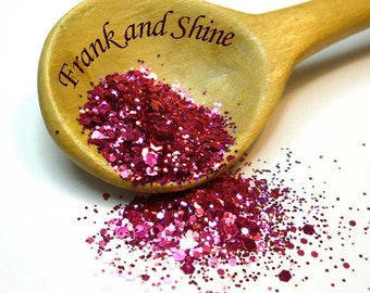 Pink Sizzles Solvent Resistant Nail Glitter Mix