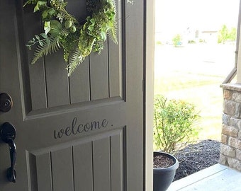 Welcome Decal - Welcome Door Decal - Vinyl Decal for your Front Door - Welcome Vinyl Lettering Entry Way or Porch Decal