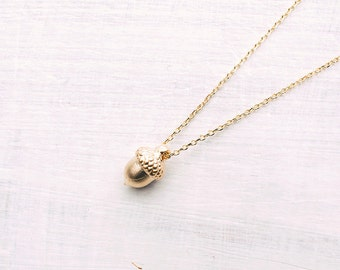 Gold Plated Acron Necklace