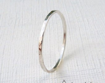 Thin sterling silver wedding band, Sterling silver wedding band, Thin wedding band, Skinny wedding band, Mens wedding band, 1mm wide silver
