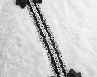 Black Thin Lace Lolita Classical Headdress