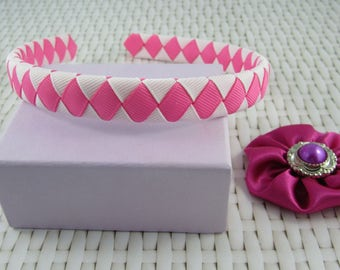 Woven Headband - Purple/Blue/Pink