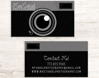 Camera business card for photographer set of 50 camera business card with camera on front and back of card colourmoves
