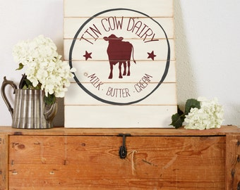 Tin Cow Dairy SVG for cutting machines