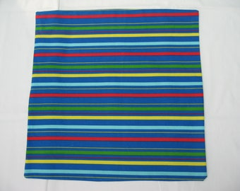 Large Cushion Cover, Stripey Cotton Fabric
