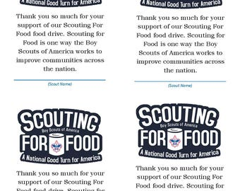 Scouting For Food Generic Thank You Card
