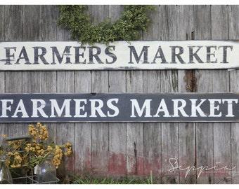 Handpainted Rustic Sign, Farmers Market