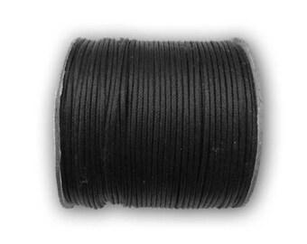 Cord cotton wax black Ø 2 mm roll of 100 m