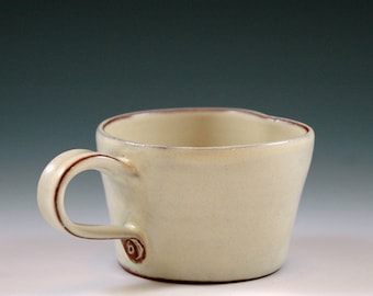 Small mug vanilla colored, for esresso,  mulled wine or for children.